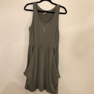 gray summer dress with pockets soft and comfy